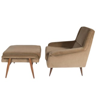 Customizable Johansson Lounge Chair and Ottoman For Sale