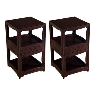 "Michael Taylor for Baker Tall ""Far East"" Nightstands - a Pair For Sale"