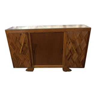 French 1930's Bamboo Buffet