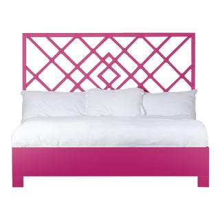 Darien Bed King - Bright Pink For Sale
