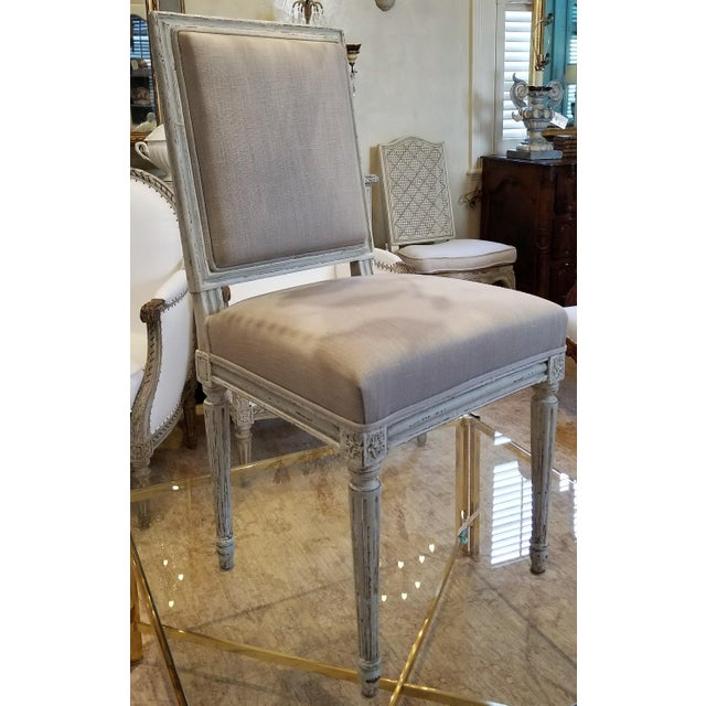 Set of 10 Louis XVI Style Dining Chairs For Sale In New Orleans - Image 6 of 8