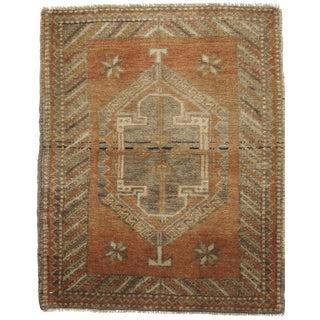 Square Vintage Turkish Yastik Hand Knotted Rug 2'3 x 2'9