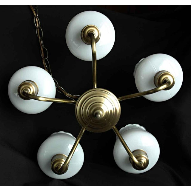 Floral Glass Shades Chandelier For Sale - Image 6 of 8