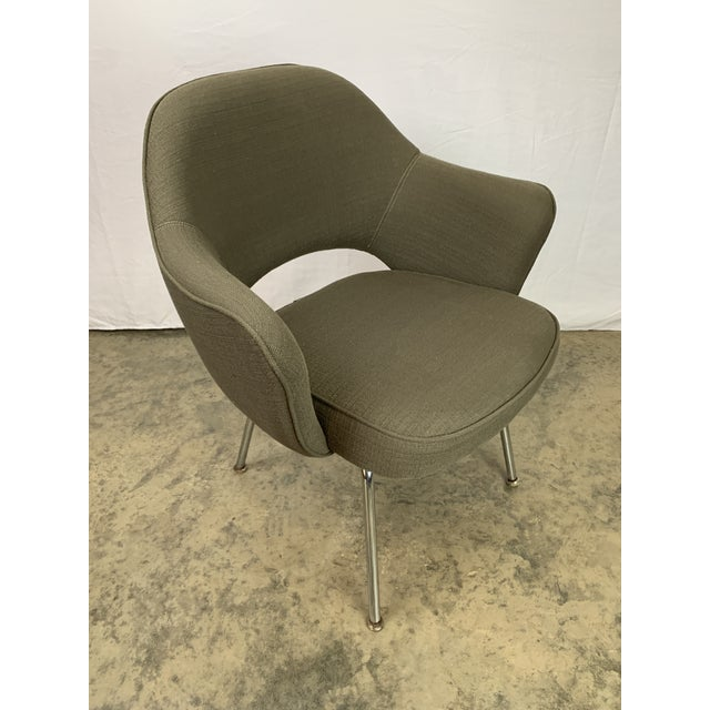 Executive Arm Chair Attributed to Eero Saarinen for Knoll For Sale In Charlotte - Image 6 of 11