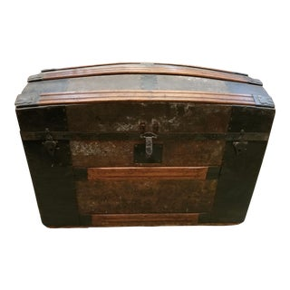 Early 20th Century Vintage Fond Du Lac Steamer Trunk For Sale