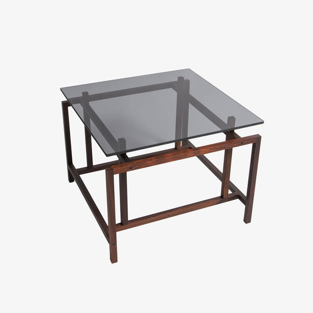 Modern Rosewood Norgaaard Smoked Glass Coffee Tables For Sale - Image 3 of 3