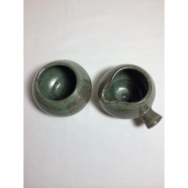 Mid-Century Pottery Art Sugar & Creamer Set - Image 4 of 6