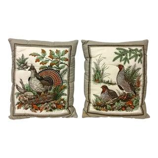 Shabby Chic Custom Bird Lover Pillows - a Pair For Sale