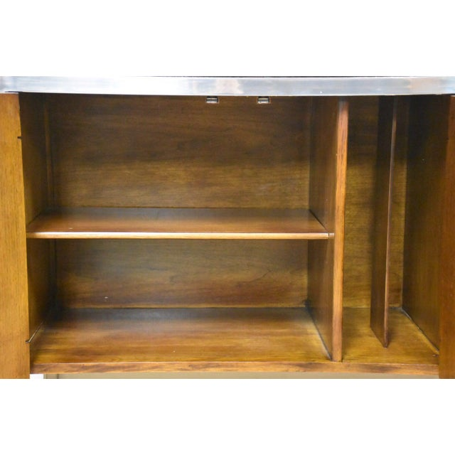 Tomlinson Burl and Chrome Credenza For Sale - Image 5 of 11