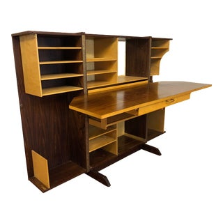 Rosewood Desk in a Box Made in Norway 1960s For Sale