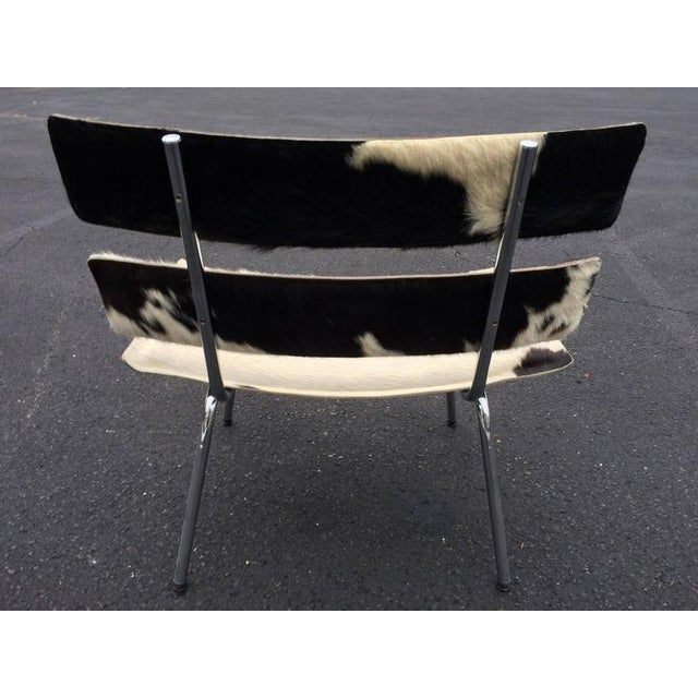 Cowhide & Chrome Eames Style Chair For Sale In New York - Image 6 of 12