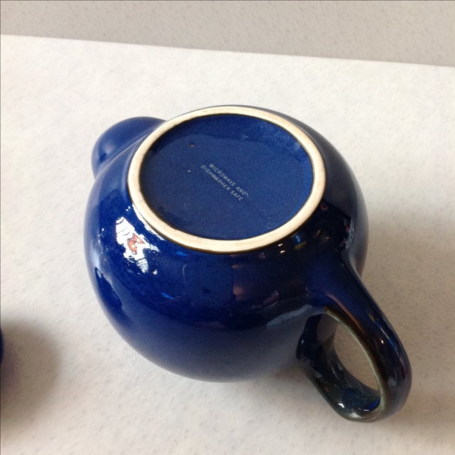 Cobalt Blue Ceramic Teapot - Image 6 of 7