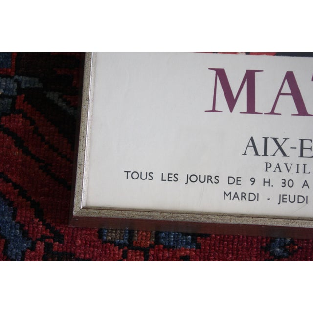 Henri Matisse Exhibition Poster ''Matisse Aix-En-Provence'', 1960 by Mourlot For Sale - Image 9 of 12