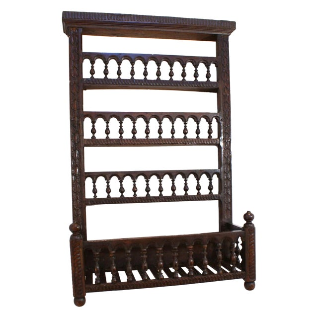 19th Century French Fruitwood Hanging Shelf For Sale