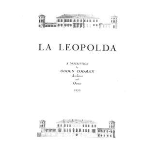 1939 La Leopolda: Description by Ogden Codman Architect and Owner Book For Sale