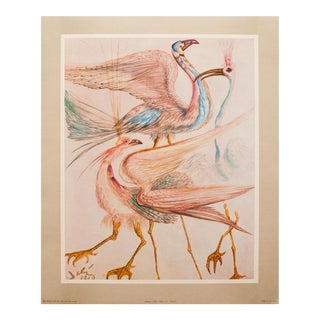 "1952 Dali, ""Birds"" First and Only Edition Period Lithograph From the Mrs. Albert D. Lasker Collection For Sale"