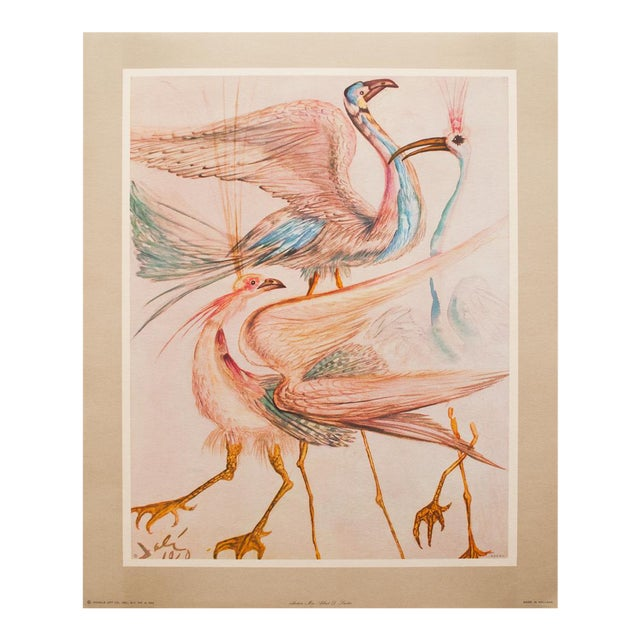 """1952 Dali, Original Period """"Birds"""" Lithograph From the Mrs. Albert D. Lasker Collection For Sale"""