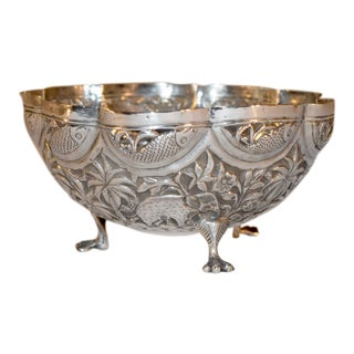 19th Century Anglo-Indian Silver Bowl For Sale