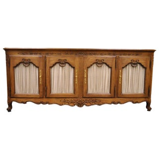 1970s French Country Kindel Borghese Cherry Wood Sideboard Buffet For Sale