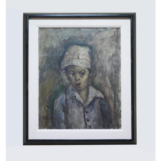 """George Chann """"Portrait of a Boy"""" Painting For Sale In Palm Springs - Image 6 of 6"""