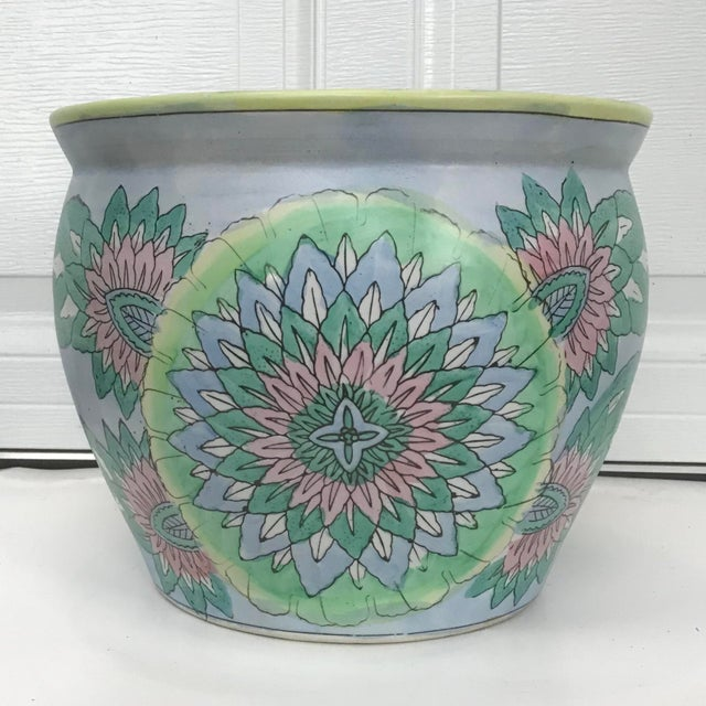 Asian Large Oriental Asian Chinese Planter Jardiniere For Sale - Image 3 of 8