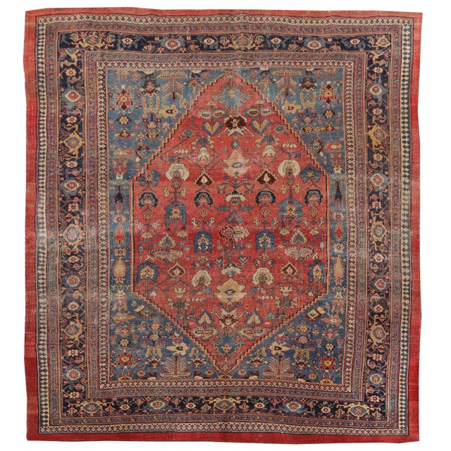 "Late 18th Century Antique Persian Bijar Rug-7'6""x10'10"" For Sale - Image 5 of 7"