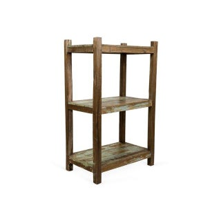 1960s 6 Ft. Salvaged Wood Etagere For Sale
