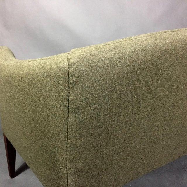 Illum Wikkelsø 2-Seat Wool Sofa, Denmark 1960s For Sale - Image 10 of 12