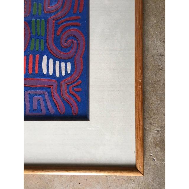 Vintage Indian Mola Framed Textile Art - Image 4 of 10
