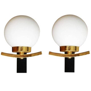 1970s Vintage French Sconces - A Pair For Sale