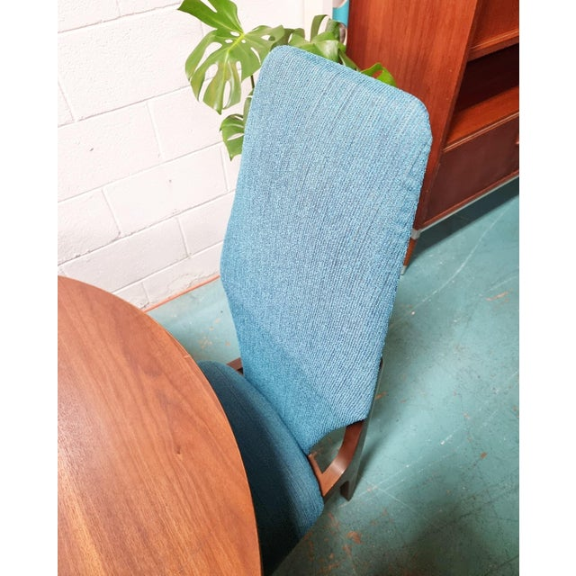 1960s Kroehler Mid Century Teal Upholstered Dining Set - 5 Pieces For Sale - Image 5 of 6