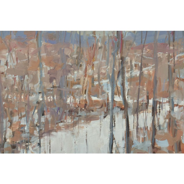 """Contemporary """"Vermont Memory"""" Contemporary Abstract Landscape Acrylic Painting by Stephen Remick, Framed For Sale - Image 3 of 9"""
