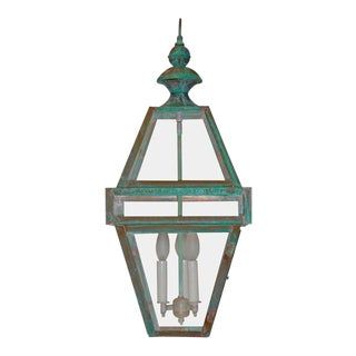 Four-Sided Architectural Hanging Lantern For Sale
