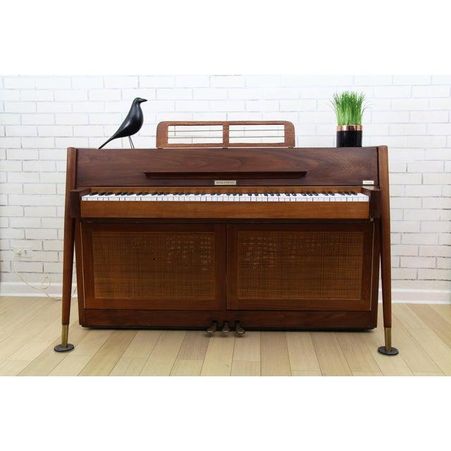 Mid-Century Modern Hidden Piano Bar With Liquor Wine Storage - Baldwin Acrosonic For Sale - Image 10 of 12