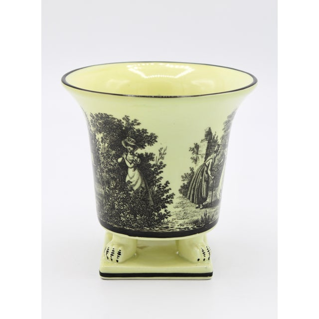 Italian Mottahedeh Canary Yellow Ceramic Cachepot Vessel For Sale In Tulsa - Image 6 of 12