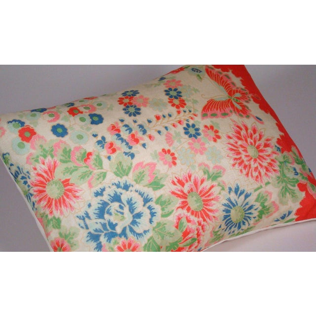 Chinese Silk Floral Lumbar Pillow Cover For Sale - Image 4 of 9