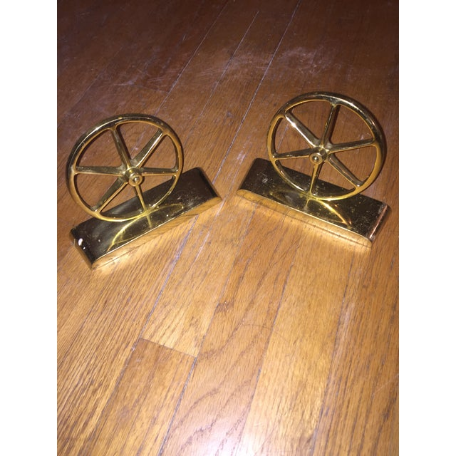 Mid-Century Brass Bookends - Image 2 of 4