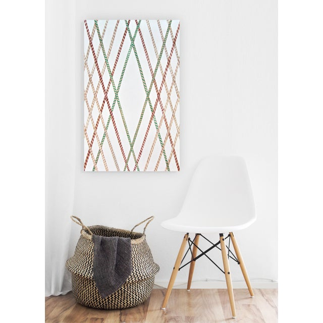 Canvas Natasha Mistry Contemporary Geometric Oil Painting For Sale - Image 7 of 11