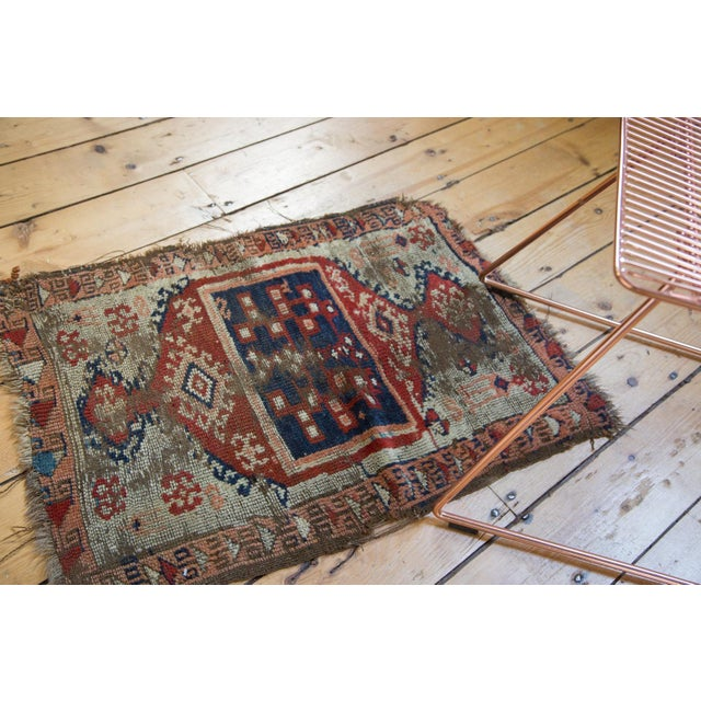 """Traditional Antique Anatolian Rug Mat - 1'10"""" x 2'8"""" For Sale - Image 3 of 6"""