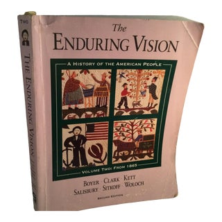 """1865 """"The Enduring Vision"""" History of the American People Volume Two Book For Sale"""
