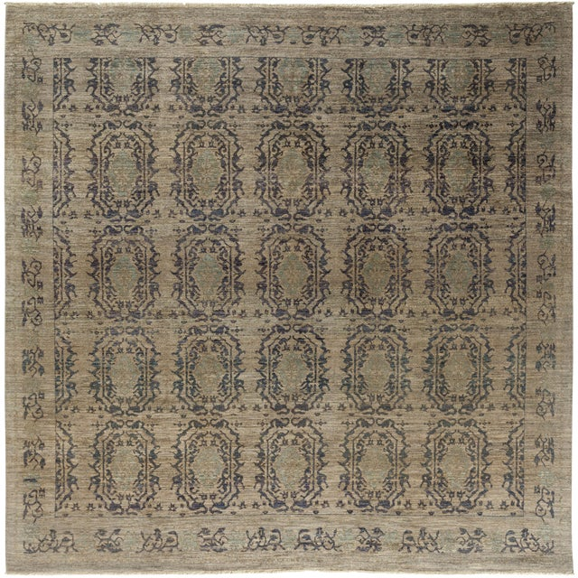 "Ziegler Hand Knotted Area Rug - 9'1"" X 9'3"" For Sale"