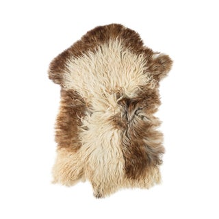 "Contemporary Natural Sheepskin Pelt -1'9""x3'1"" For Sale"