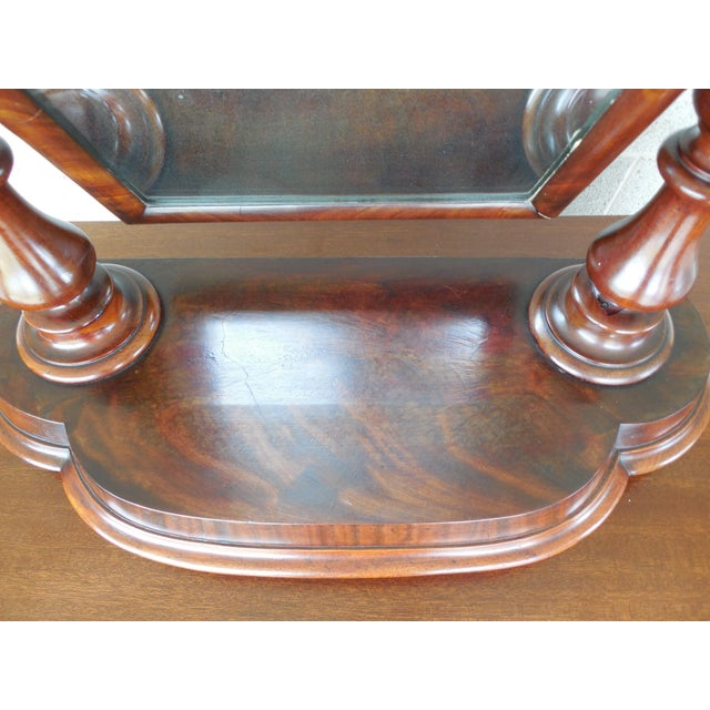Antique Empire Period Mahogany Dressing Mirror For Sale - Image 11 of 13