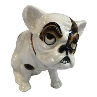 Early 20th Century Art Deco Porcelain Czechoslovakian Bulldog For Sale