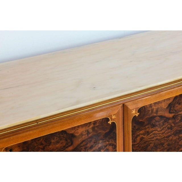 Fine Italian Modern Rootwood, Fruitwood, Onyx and Brass Sideboard/Buffet, Dassi For Sale - Image 9 of 9