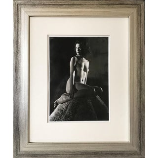 Vintage Mid Century Nude Black and White Art Photograph C.1950 For Sale