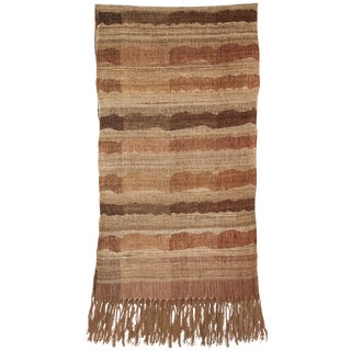 Indian Handwoven Throw Ocean Stripe Warm For Sale