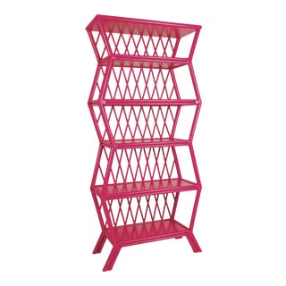 Hollywood Etagere - Bright Pink For Sale