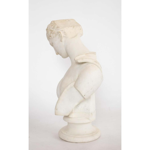 Antique Italian Neoclassical Marble Bust of Psyche, by Giuseppe Carnevale For Sale - Image 9 of 13