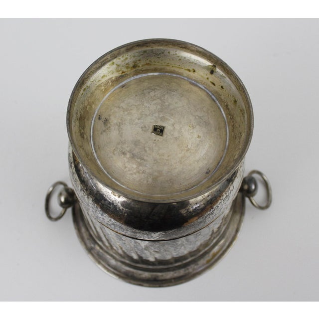 Vintage Silver Plated Ice Bucket With Scoop Champagne Bucket Silverplate Godinger For Sale In New York - Image 6 of 9